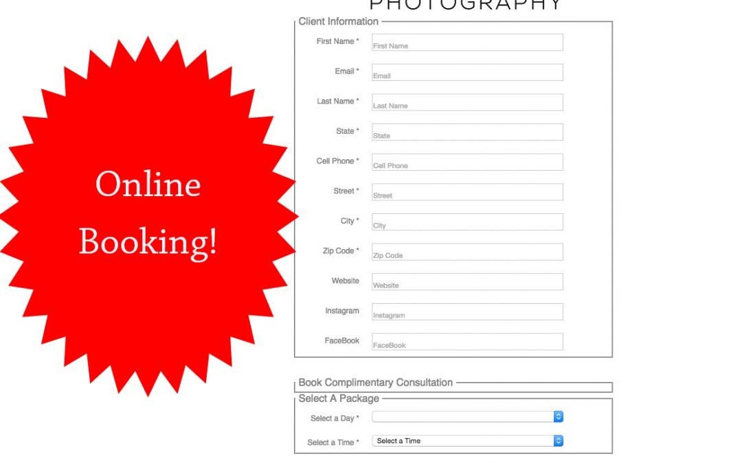 Online Booking – Customize Your Photography Session